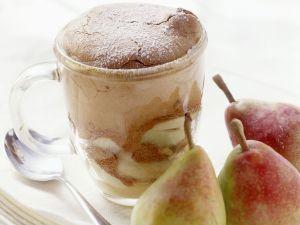 Birnen-Schoko-Soufflee Rezept