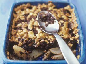 Birnen-Schokoladen-Auflauf mit Marshmellow-Kruste Rezept
