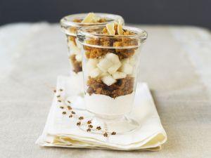 Birnen-Trifle mit Ingwer und Gewürzbrot (Pain Epices) Rezept
