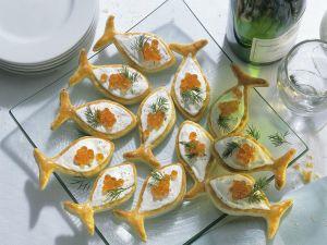 Blätterteig-Kaviar-Häppchen Rezept