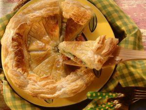 Blätterteigkuchen mit Fischfüllung Rezept