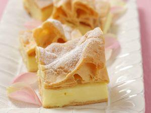 Blätterteigkuchen mit Vanillepudding auf polnische Art Rezept