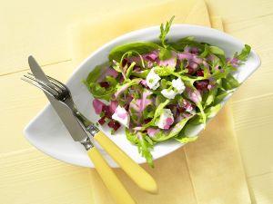 Blattsalat mit Roter Bete und Feta Rezept