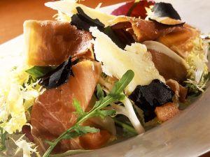 Blattsalat mit Schinken und Trüffel Rezept