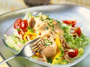 Blattsalat mit Thunfisch Rezept