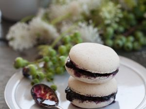 Blaubeer-Macarons Rezept