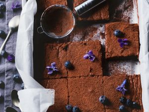 Blaubeer-Schokoschnitten Rezept