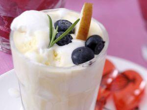 Blaubeer-Vanille-Eis Rezept