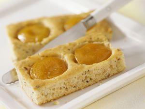 Blechkuchen mit Pfirsichen Rezept