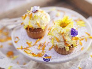 Blüten-Cupcakes Rezept