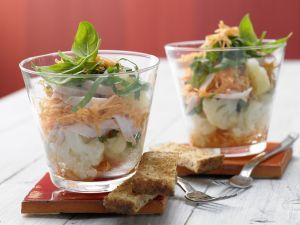 Blumenkohl-Schichtsalat Rezept