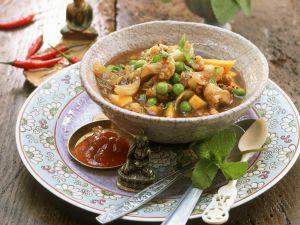 Blumenkohlcurry mit Mango und Erbsen Rezept