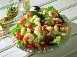 Blumenkohlsalat mit Krabben Rezept