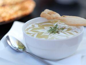 Blumenkohlsuppe mit Leinsaat Rezept
