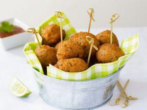 Bohnen-Garnelen-Bällchen Rezept