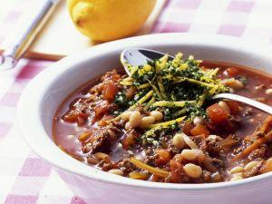 Bohnen-Hackfleischsoße mit Gremolata Rezept