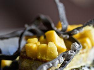Bohnen mit Thunfisch und Mango Rezept