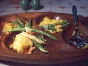 Bohnen-Safran-Couscous Rezept