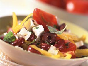 Bohnen-Tomaten-Salat Rezept