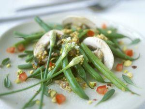 Bohnensalat mit Champignons und Senfdressing Rezept