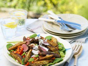 Bohnensalat mit Kartoffeln und Rinderfilet Rezept
