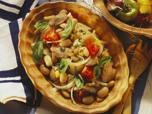 Bohnensalat mit Lamm Rezept