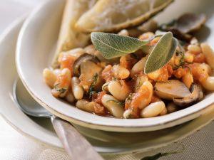 Bohnentopf mit Steinpilzen und Tomaten Rezept
