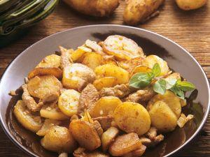 Bratkartoffel mit Kalbfleisch Rezept
