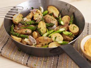 Bratkartoffel-Spargel-Pfanne Rezept