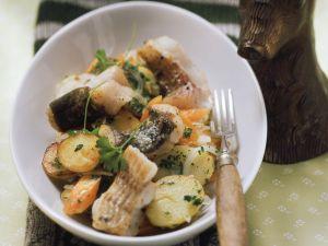 Bratkartoffel-Waller-Pfanne mit Karotten Rezept