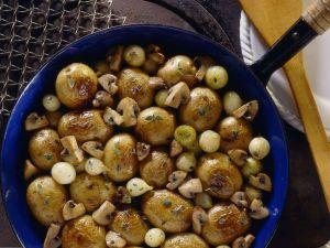 Bratkartoffeln mit Champignons Rezept