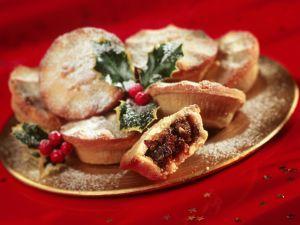 Britische Weihnachtsküchlein mit Trockenobst (Mince Pies) Rezept