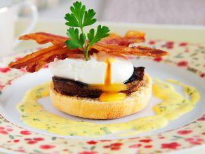 Brötchen mit Champignons und Ei Rezept