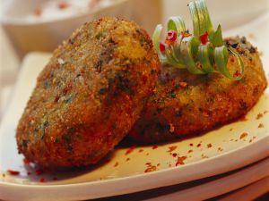 Brokkoli-Käse-Frikadellen auf indische Art Rezept