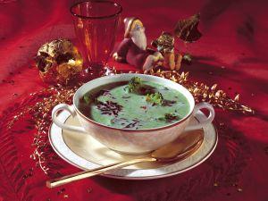 Brokkoli-Sahne-Suppe mit Wildreis Rezept