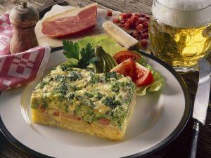 Brokkoliauflauf mit Kartoffeln und Schinken Rezept