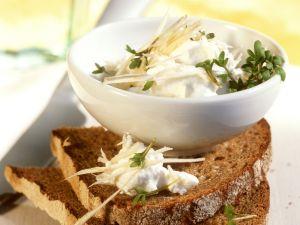 Brot mit Quark und Kresse Rezept