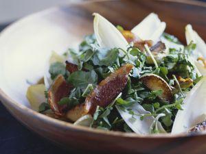 Brunnenkresse-Salat mit Bacon Rezept