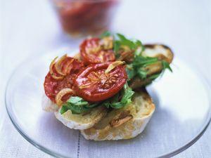 Bruschetta mit Tomaten und Rucola Rezept