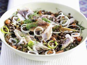 Bunter Linsensalat mit Räucher-Makrele Rezept