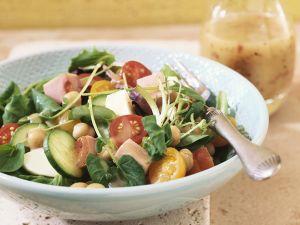 Bunter Salat mit Honig-Senfdressing Rezept