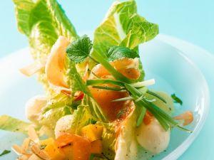 Bunter Salat mit Mango und Schinken Rezept