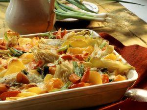 Buntes Gemüsegratin mit Kartoffeln Rezept