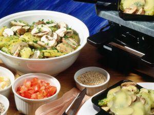 Buntes Kartoffel-Pilz-Raclette Rezept