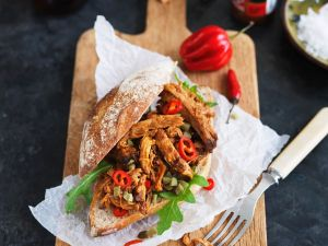 Burger mit Pulled Pork Rezept