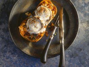 Butternut-Kürbis mit Ziegenkäse gebacken Rezept