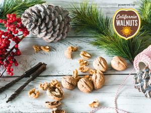 Köstliche Weihnachtsbäckerei mit kalifornischen Walnüssen