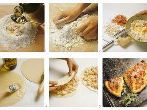 Calzone zubereiten Rezept