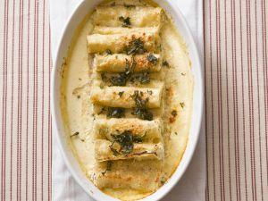 Cannelloni gefüllt mit Rucola-Ricotta und Krabbenfleisch Rezept