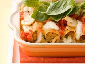 Cannelloni mit Pilz-Ricotta-Füllung Rezept